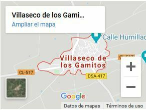 Mapa de villaseco de los gamitos