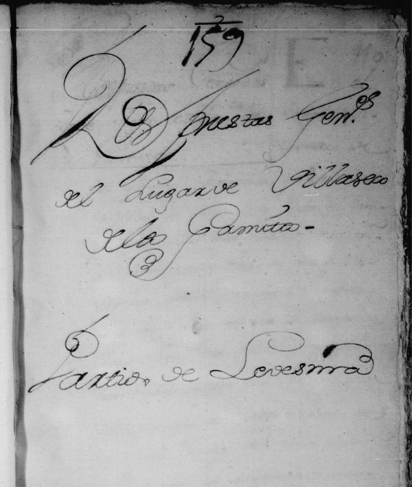 Catastro de Ensenada 1752. RESPUESTAS GENERALES DEL LUGAR DE  VILLASECO DE LOS GAMITOS  PARTIDO DE LEDESMA. SALAMANCA